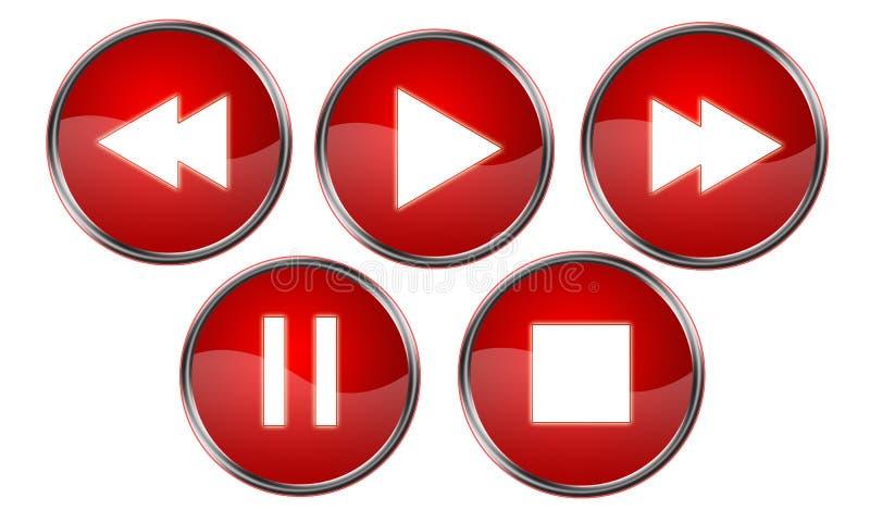 O jogador abotoa o vermelho ilustração royalty free