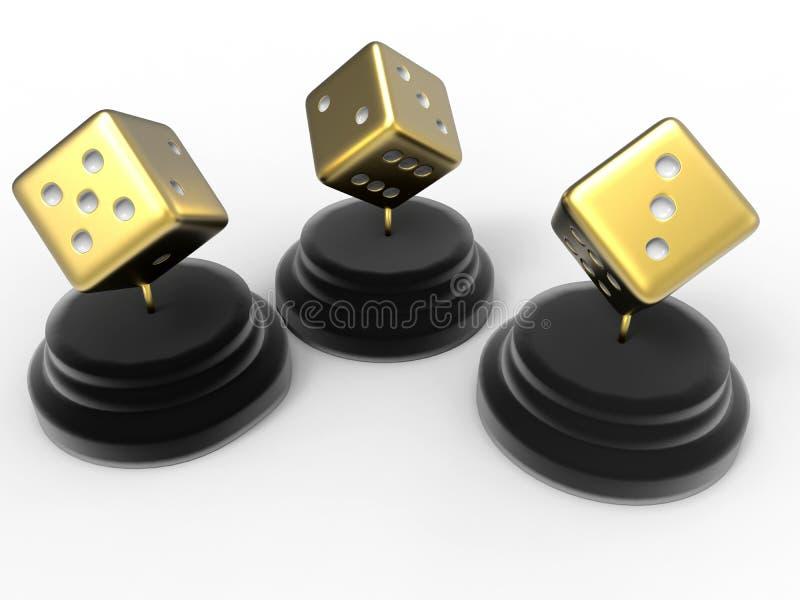 O jogador concede a ilustração do troféu ilustração royalty free