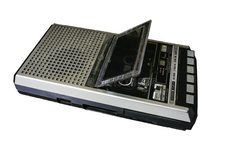 O jogador da cassete de banda magnética de GE isolou-se foto de stock royalty free