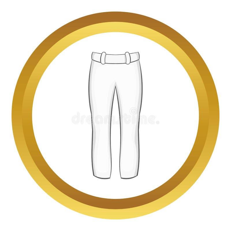 O jogador de beisebol arfa o ícone ilustração royalty free