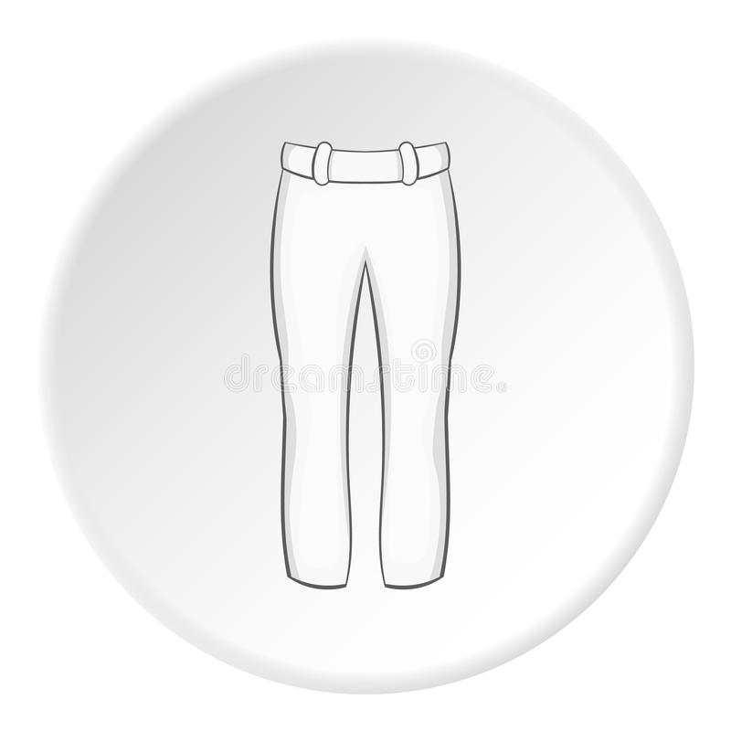 O jogador de beisebol branco arfa o ícone, estilo dos desenhos animados ilustração do vetor