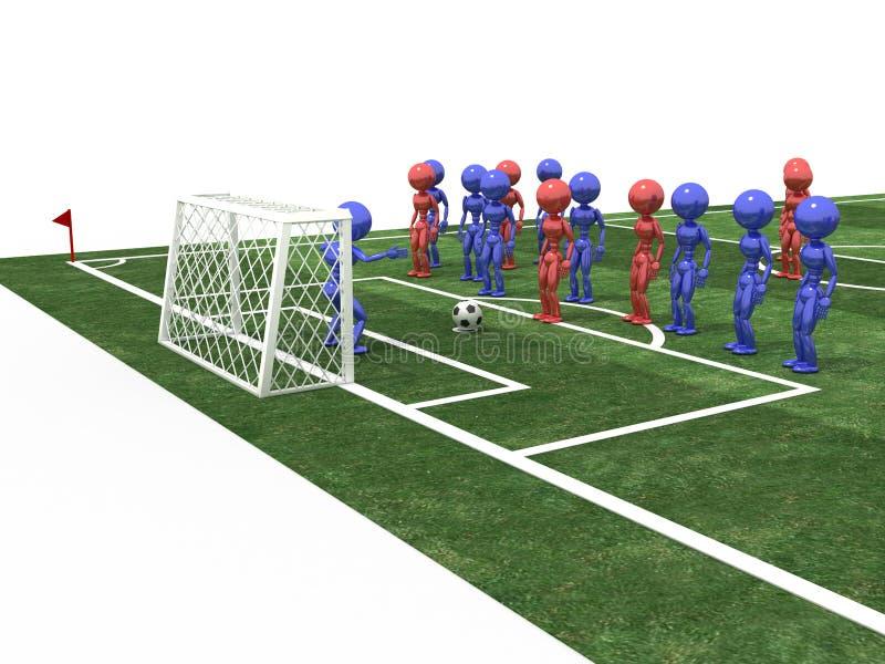 O jogador de futebol toma a pena #5 ilustração do vetor