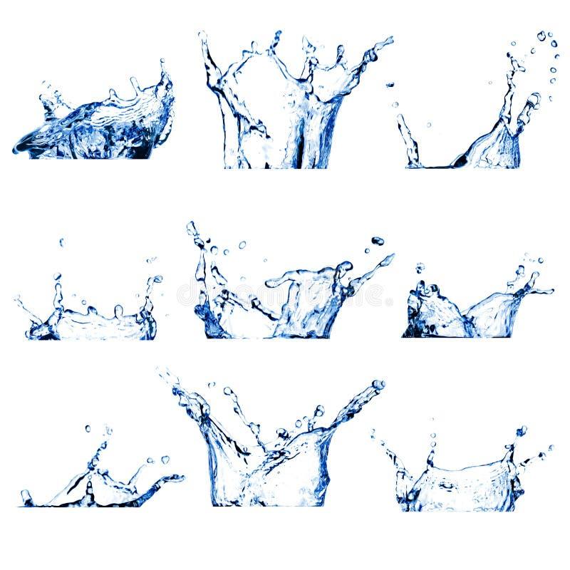 O jogo da água nove espirra fotografia de stock royalty free