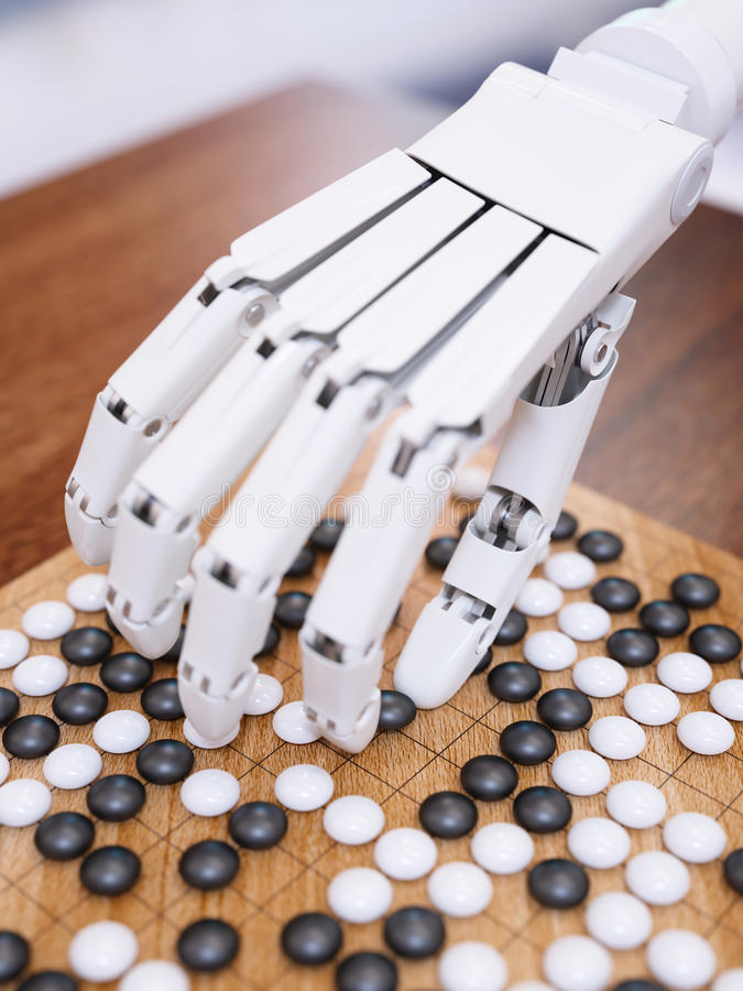 O jogo da inteligência artificial vai imagem de stock