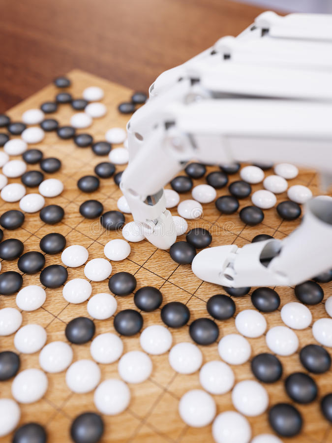 O jogo da inteligência artificial vai foto de stock royalty free