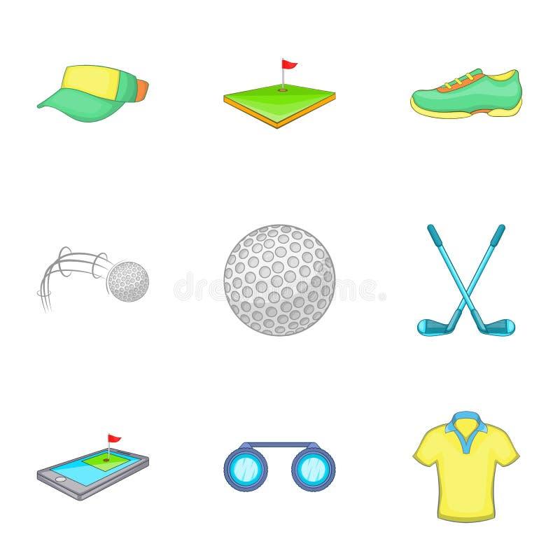 Download O Jogo De ícones Do Golfe Ajustou-se, Estilo Dos Desenhos Animados Ilustração do Vetor - Ilustração de binóculos, equipamento: 80101767