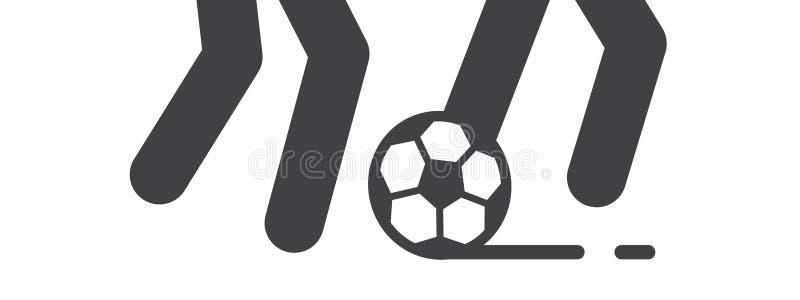 O jogo do jogo do futebol e de futebol ilustra ilustração royalty free