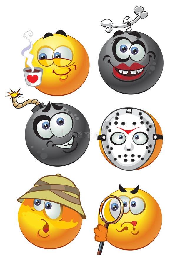 O jogo do grupo sorri emotion2 ilustração stock