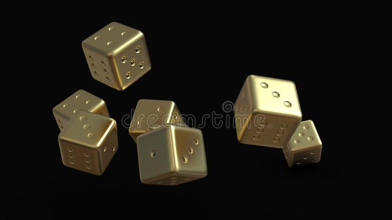 O jogo dourado corta 3d ilustração do vetor