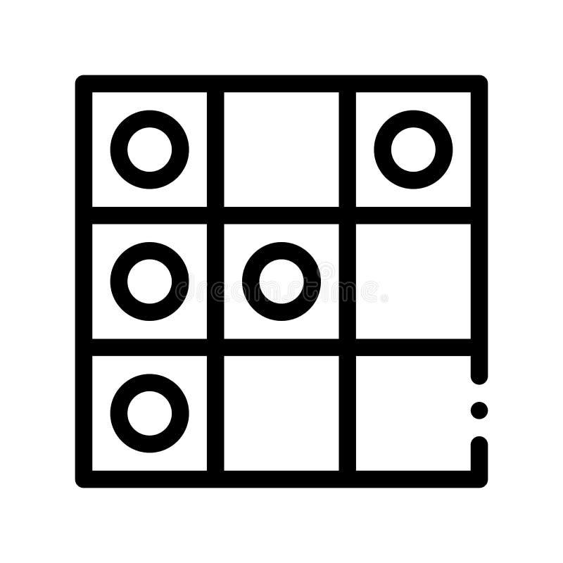 O jogo interativo das crianças esboça o ícone do sinal do vetor ilustração royalty free