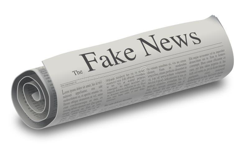 O jornal falsificado da notícia ilustração stock