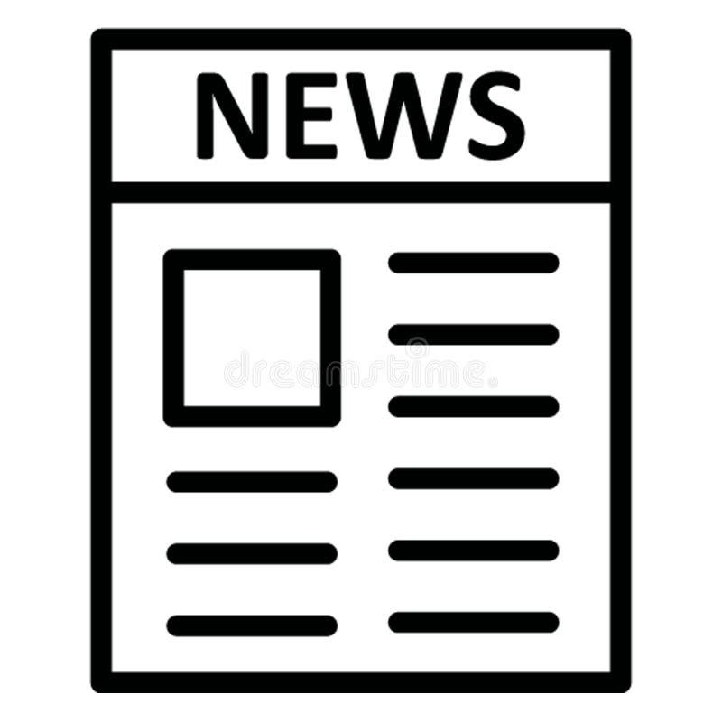 O jornal isolou o ícone do vetor que pode facilmente alterar ilustração royalty free