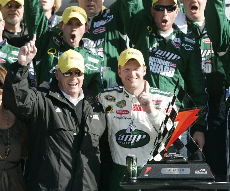 O Jr Motorista de NASCAR fotografia de stock