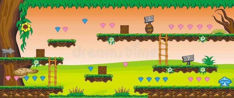 2.o juego 58 de la plataforma de Tileset stock de ilustración