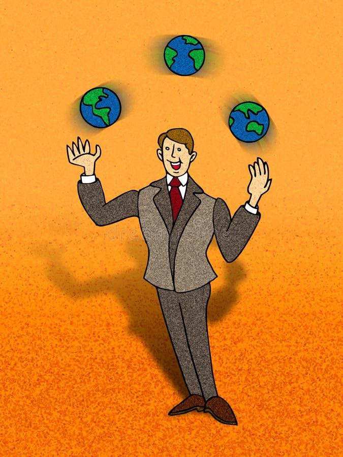 O Juggler ilustração do vetor