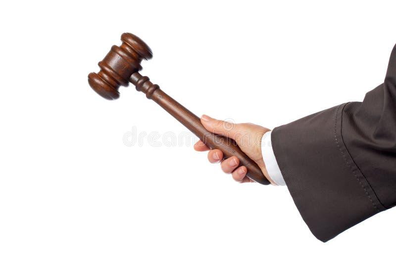 O juiz anuncia a sentença fotos de stock royalty free