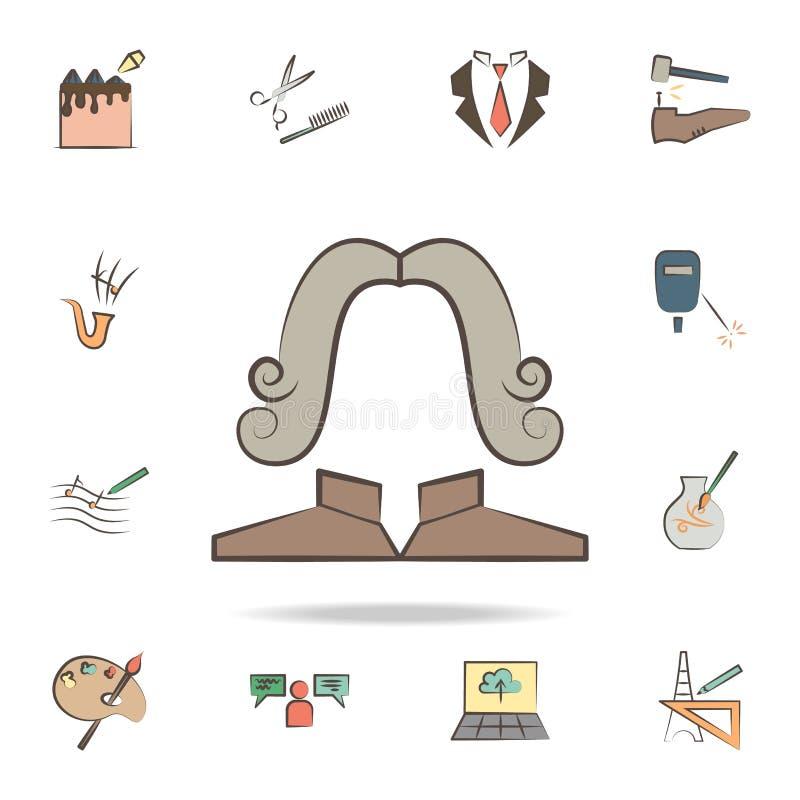 o juiz utiliza ferramentas o ícone Grupo detalhado de ferramentas de vários ícones da profissão Projeto gráfico superior Um dos í ilustração do vetor