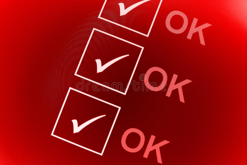 O.K. controlelijst stock illustratie