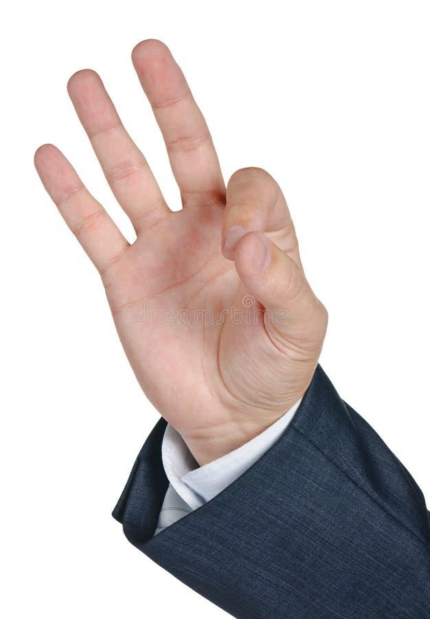 O.K. De Hand Van Gesturing Stock Afbeeldingen