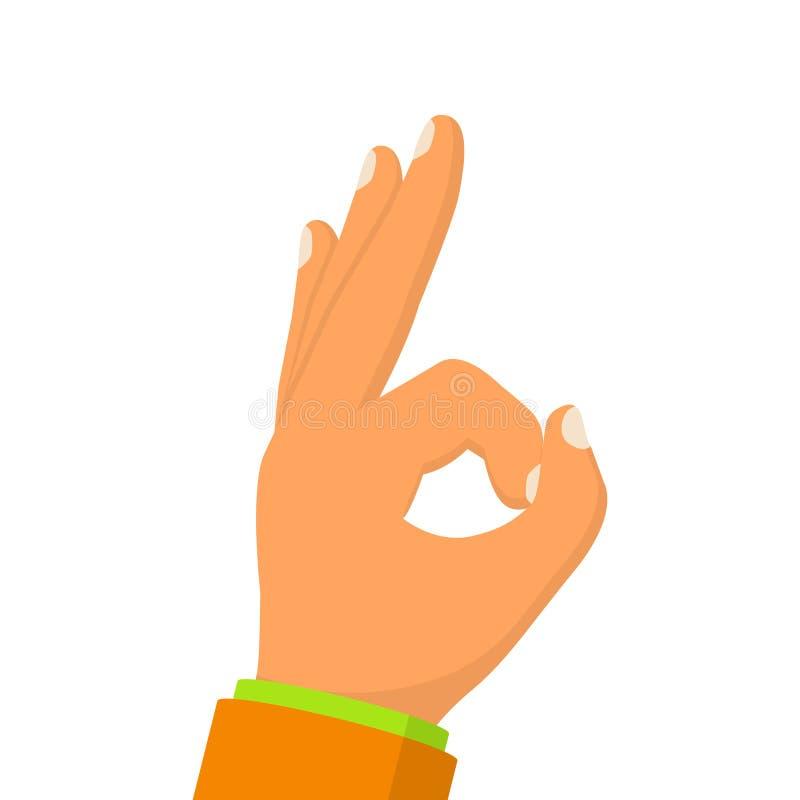 O.k. hand gesturing vingers royalty-vrije illustratie