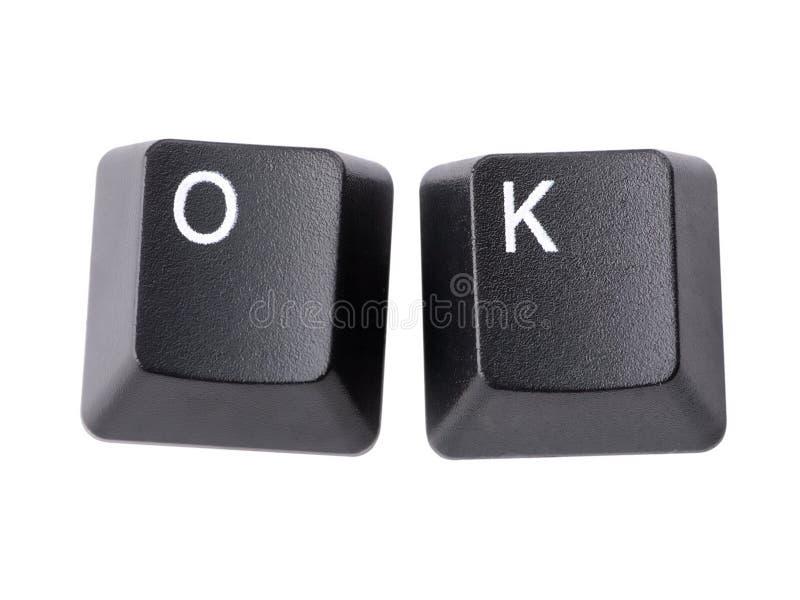 O.K. sleutels royalty-vrije stock afbeelding
