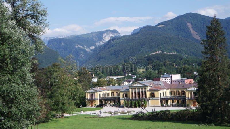 O Kaiservilla em Ischl mau era residência agradável do verão do imperador Franz Joseph e da imperatriz Sisi Elizabeth em Áustria fotos de stock royalty free
