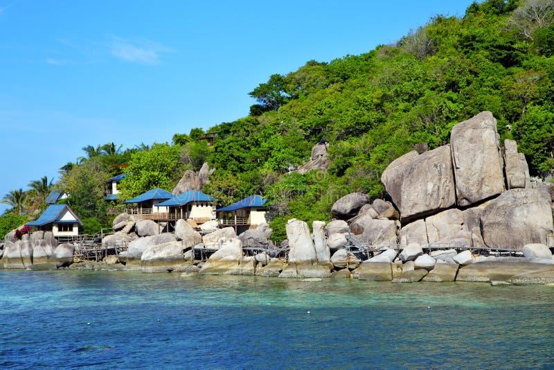 o kho tao de Ásia balança o barco de casa Tailândia fotos de stock royalty free