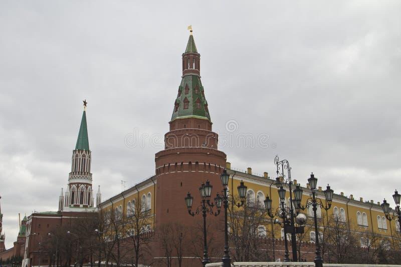 O Kremlin de Moscou, Rússia imagens de stock royalty free