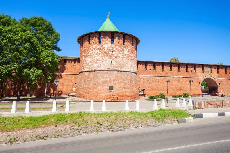O Kremlin de Nizhny Novgorod fotos de stock