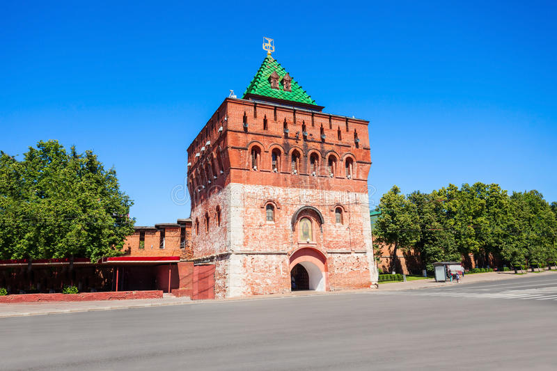 O Kremlin de Nizhny Novgorod fotografia de stock