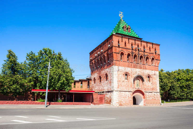 O Kremlin de Nizhny Novgorod imagem de stock