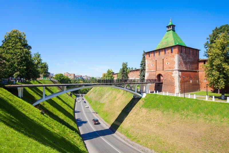 O Kremlin de Nizhny Novgorod fotografia de stock royalty free