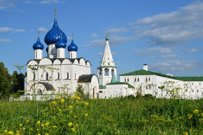 O Kremlin de Suzdal Anel dourado de Rússia fotos de stock royalty free