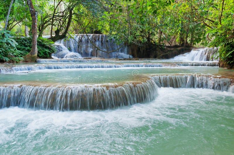 Cachoeira de Kuang Si. Luang Prabang. Laos. fotos de stock royalty free