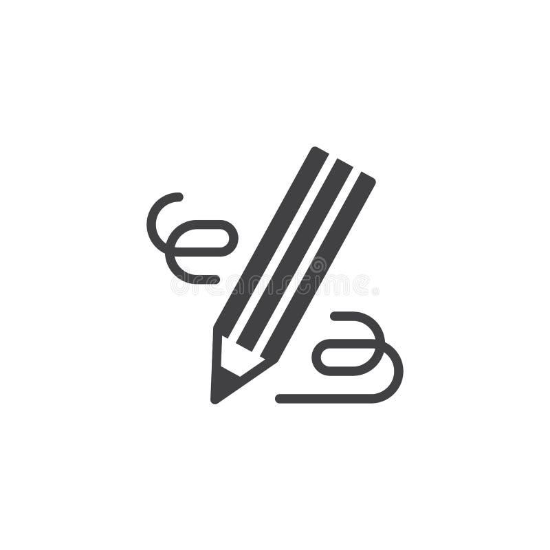 O lápis, escreve o ícone do vetor ilustração royalty free