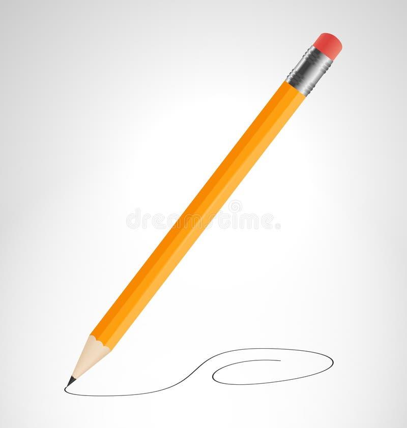 Download O Lápis Está Tirando A Curva Ilustração do Vetor - Ilustração de sumário, isolado: 29833224