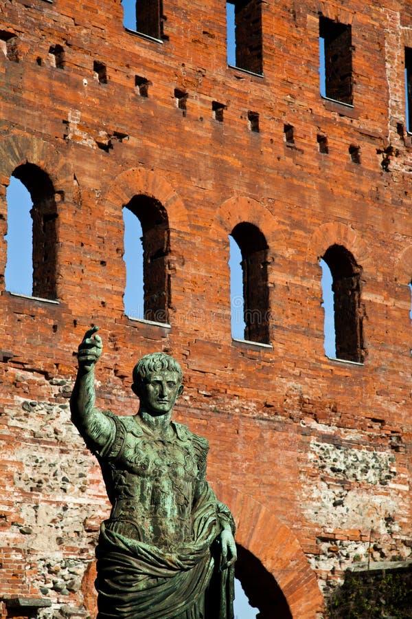 O líder: Cesare Augustus - imperador fotografia de stock royalty free
