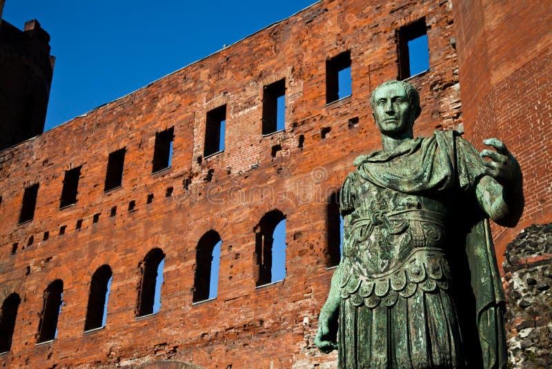O líder: Cesare Augustus - imperador fotografia de stock
