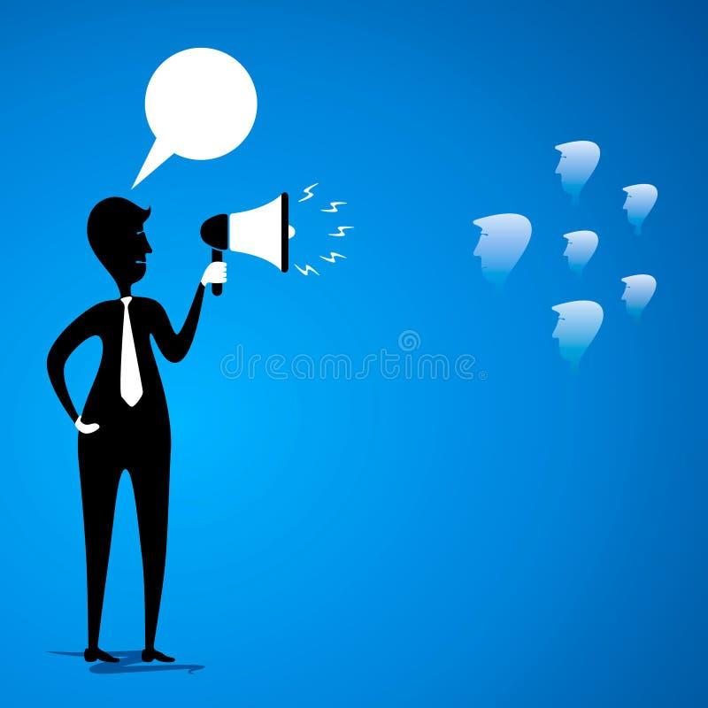 O líder comunica-se para team ilustração royalty free