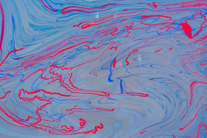 O líquido misturado líquido acrílico pinta o trabalho de arte ilustração royalty free