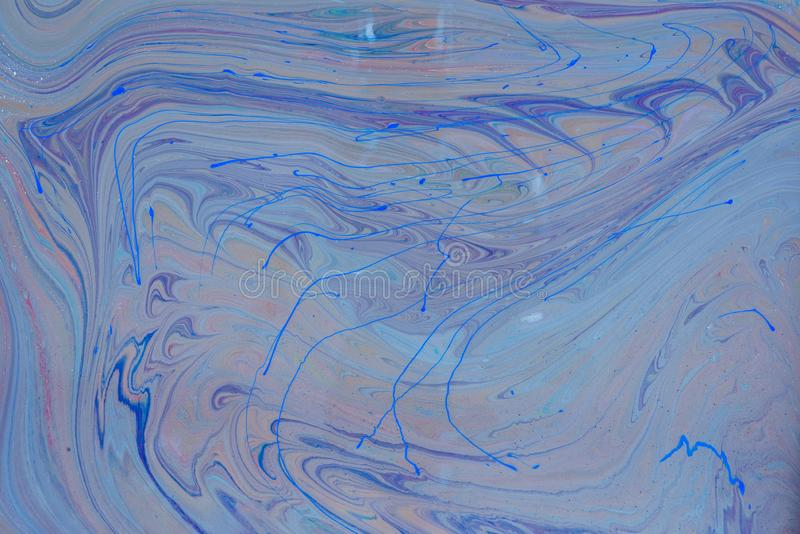 O líquido misturado líquido acrílico pinta o trabalho de arte ilustração stock