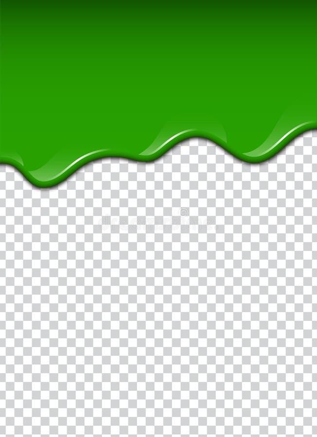 O líquido verde, espirra e borra Ilustração do vetor do limo ilustração royalty free