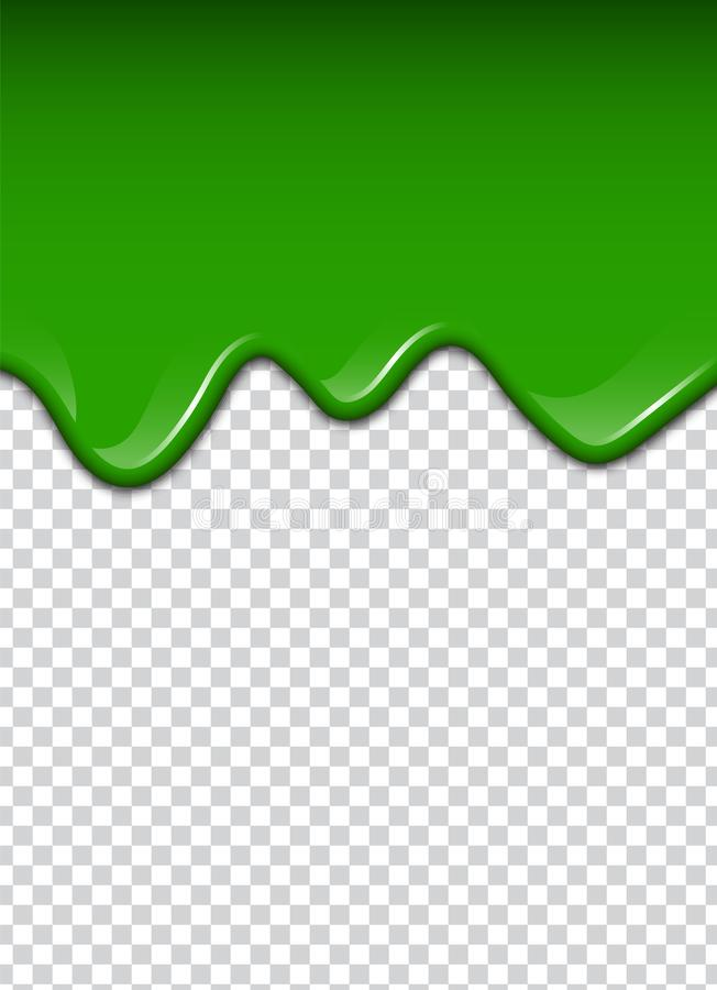 O líquido verde, espirra e borra Ilustração do vetor do limo ilustração do vetor