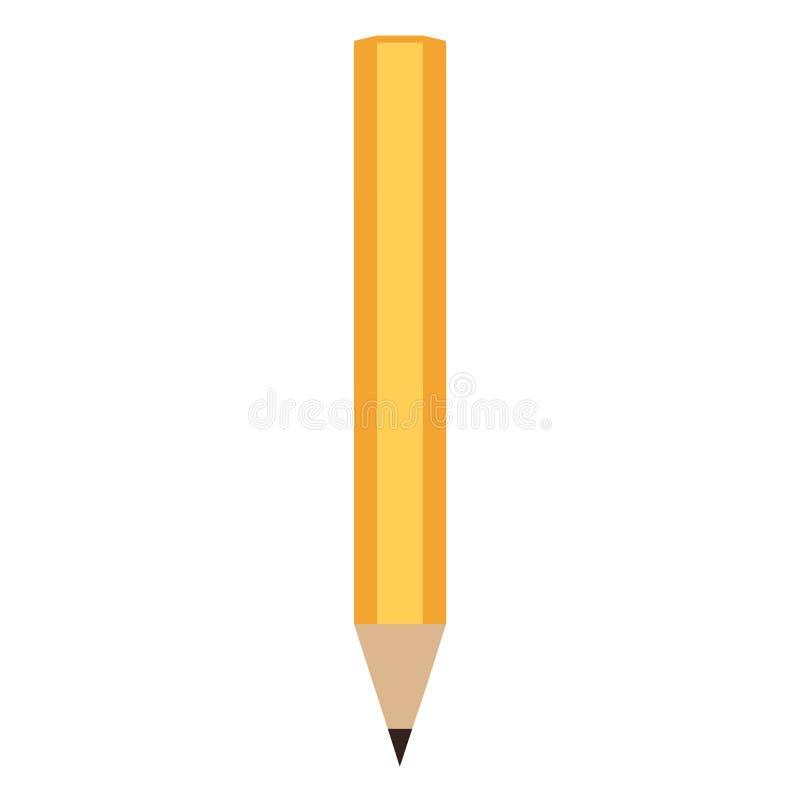 O l?pis escreve o ?cone isolado Eps 10 ilustração do vetor