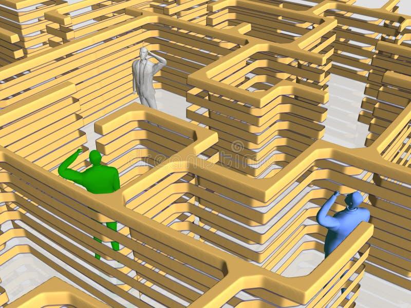 O labirinto do negócio. ilustração do vetor