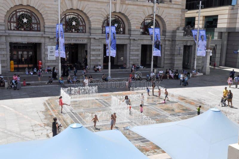 O labirinto interativo da água: Perth, Austrália foto de stock royalty free