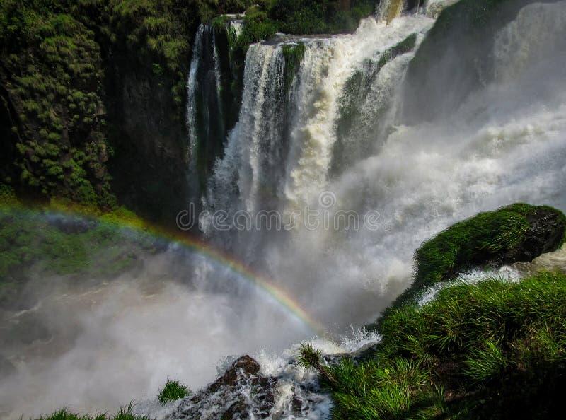 O lado argentino do Iguassu cai, no parque nacional de Iguazu, imagens de stock