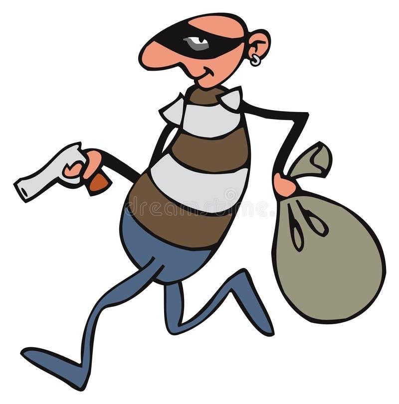 O ladr ilustração stock