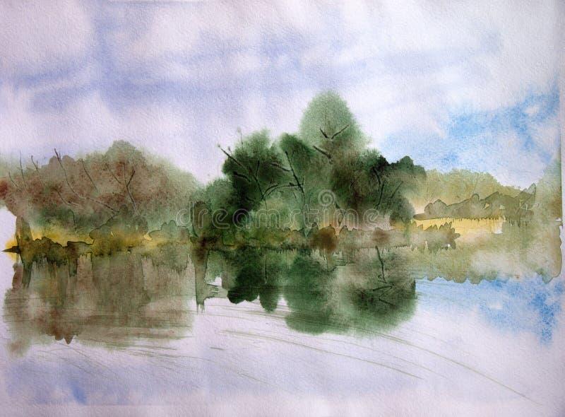 O lago ilustração stock