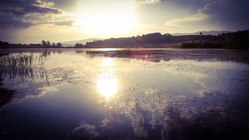 O lago Aleksandrovac-june-2018-Vranje-Serbia imagens de stock